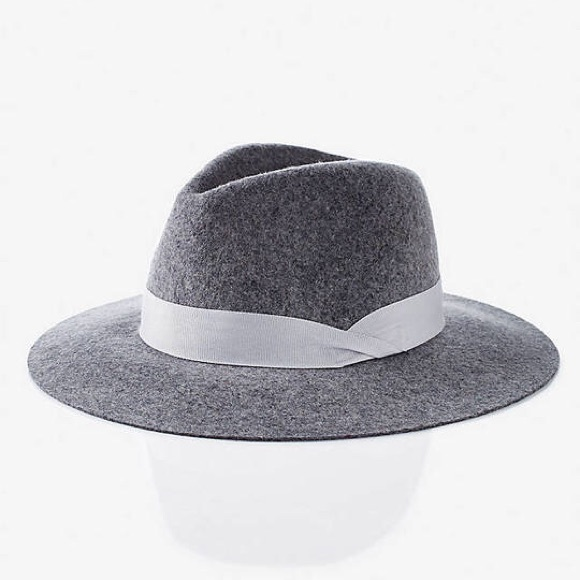 Express Accessories - Express Wool Felt Fedora Hat ce0f7965779